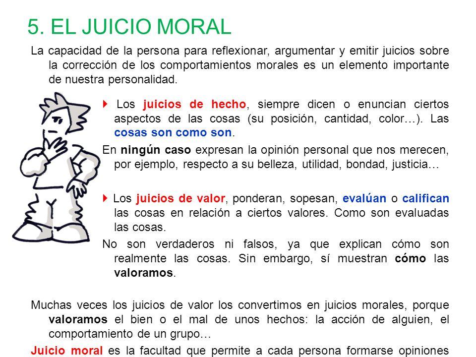 5. EL JUICIO MORAL