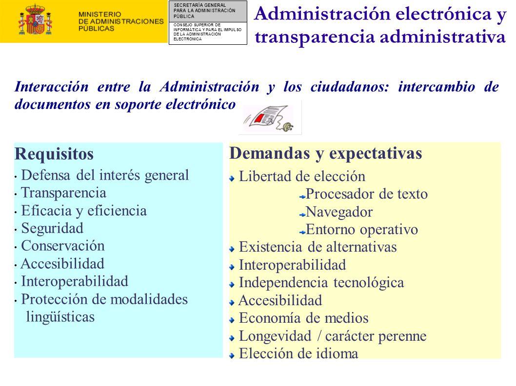 Administración electrónica y transparencia administrativa