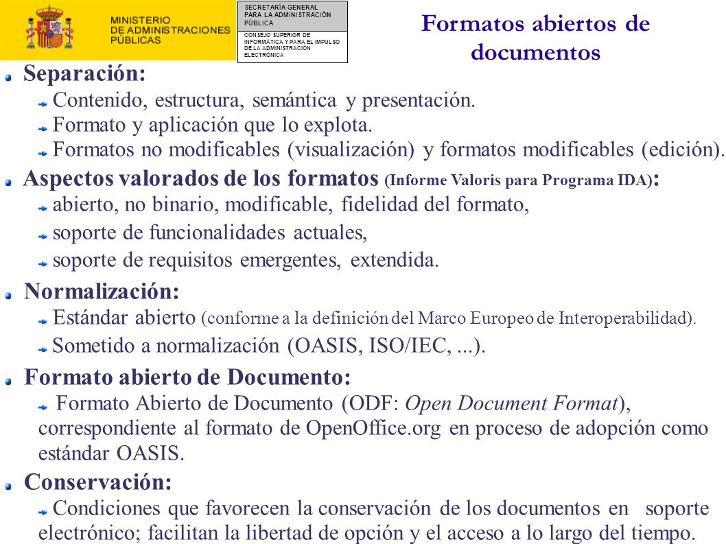 Formatos abiertos de documentos