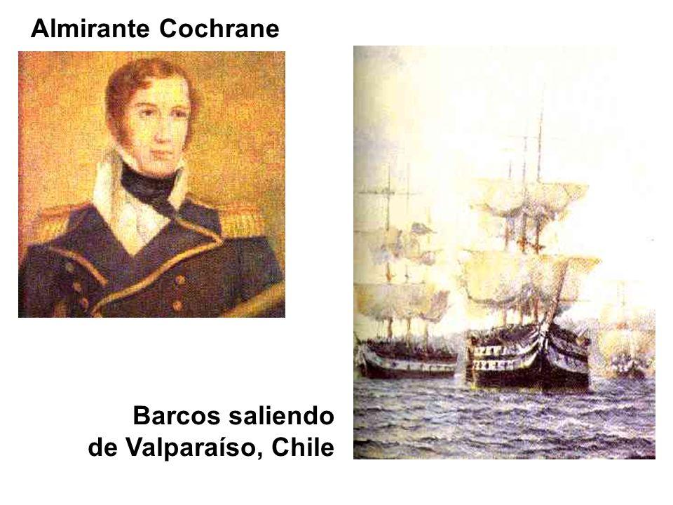 Almirante Cochrane Barcos saliendo de Valparaíso, Chile