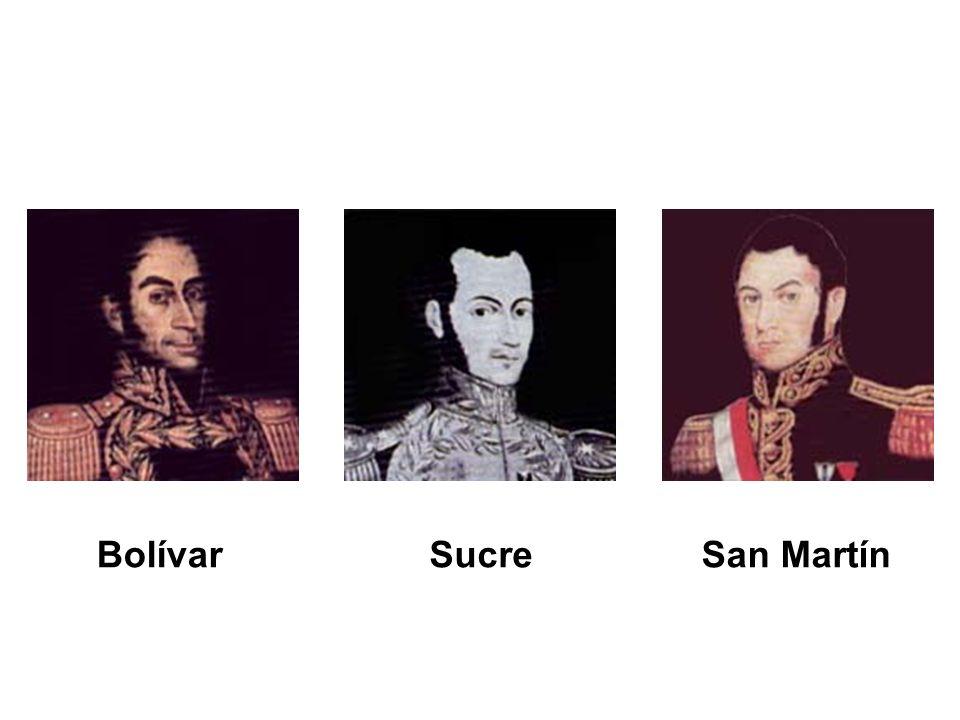Bolívar Sucre San Martín