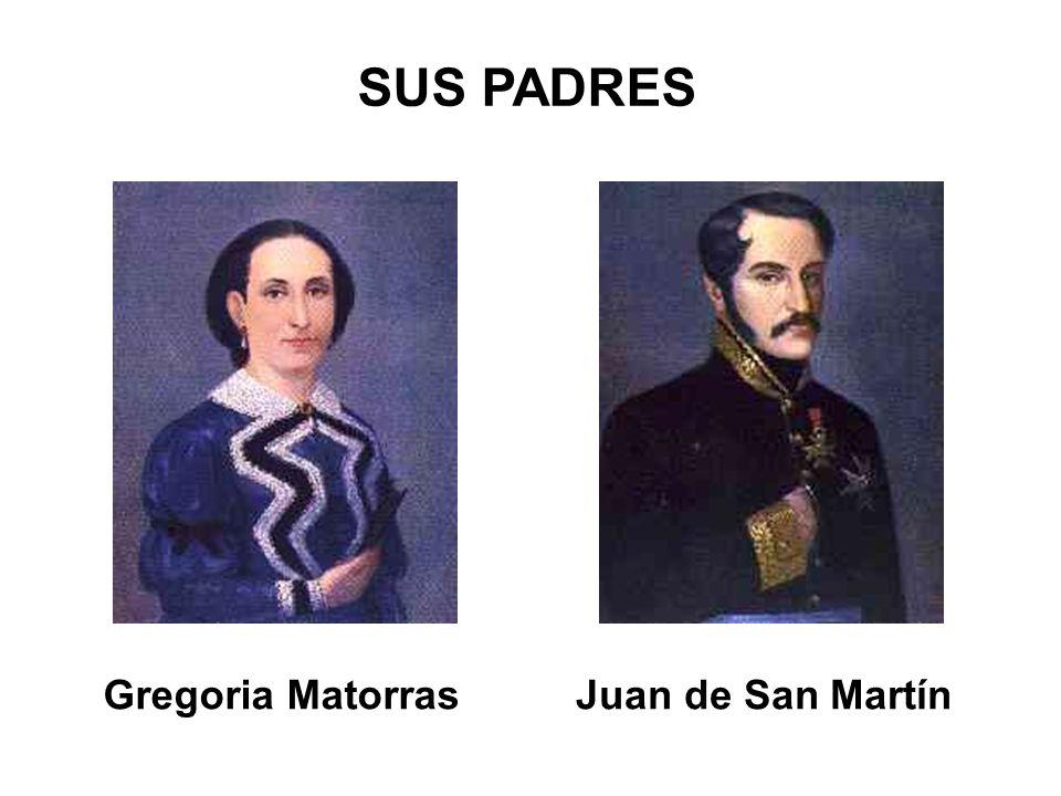 SUS PADRES Gregoria Matorras Juan de San Martín