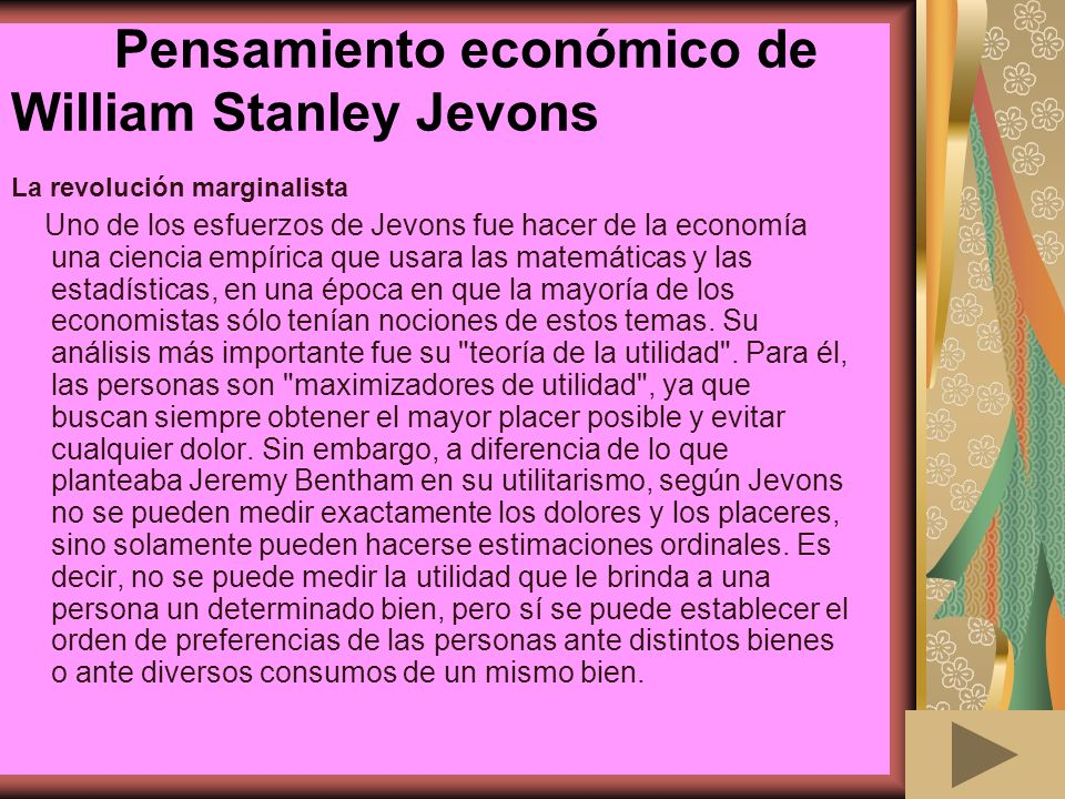 Pensamiento económico de William Stanley Jevons
