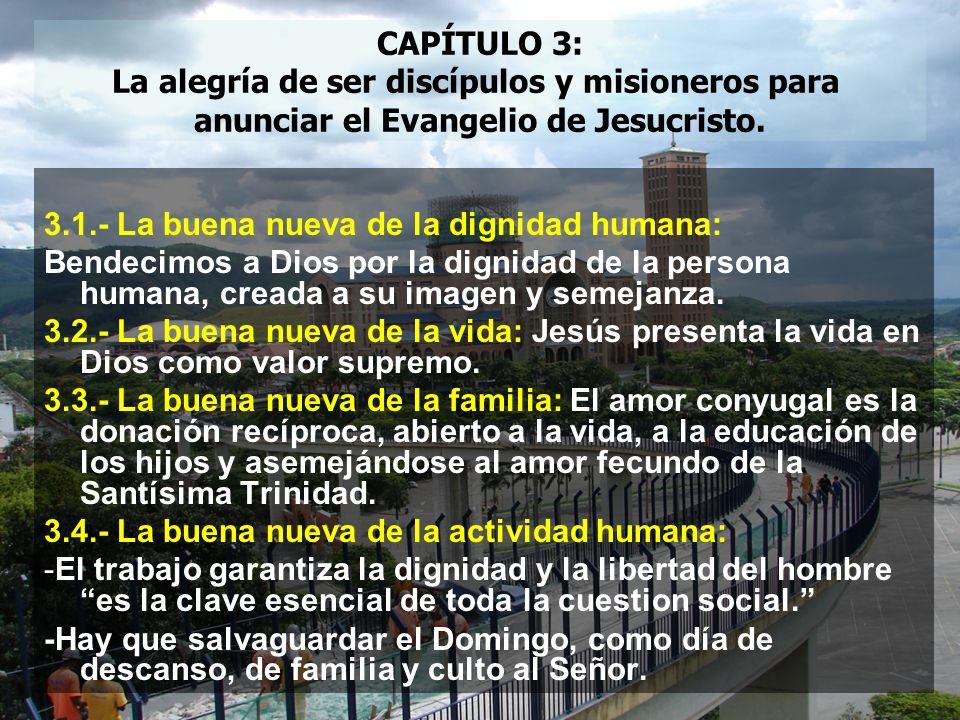 La alegría de ser discípulos y misioneros para