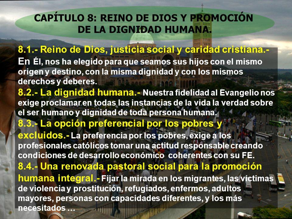 CAPÍTULO 8: REINO DE DIOS Y PROMOCIÓN