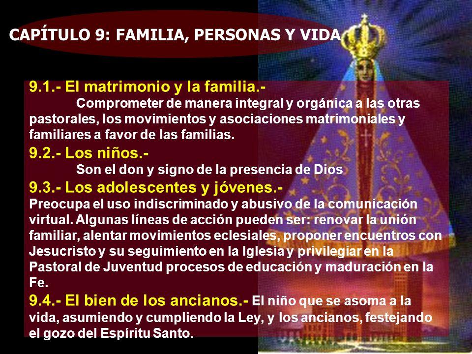 CAPÍTULO 9: FAMILIA, PERSONAS Y VIDA
