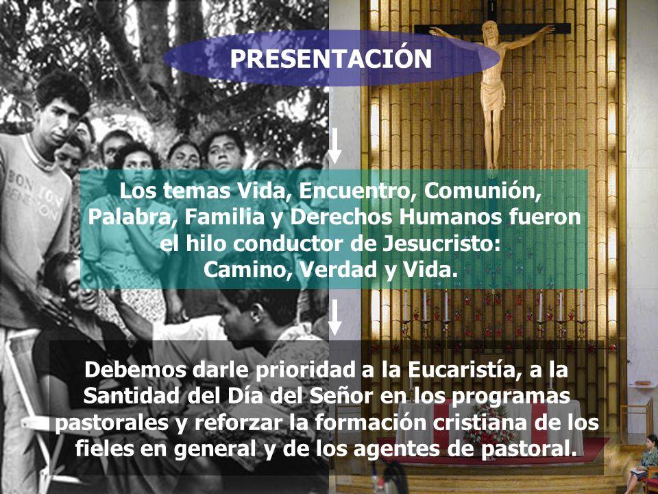 PRESENTACIÓN Los temas Vida, Encuentro, Comunión,