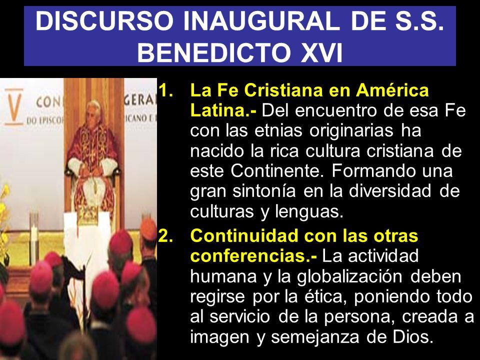 DISCURSO INAUGURAL DE S.S. BENEDICTO XVI