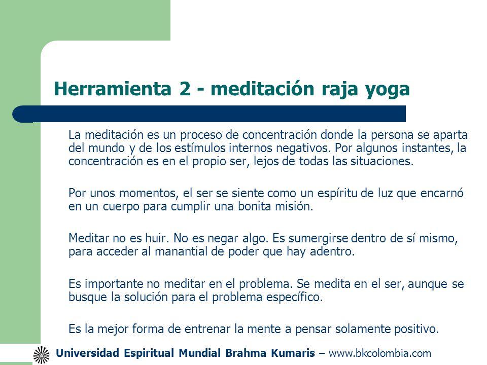 Herramienta 2 - meditación raja yoga