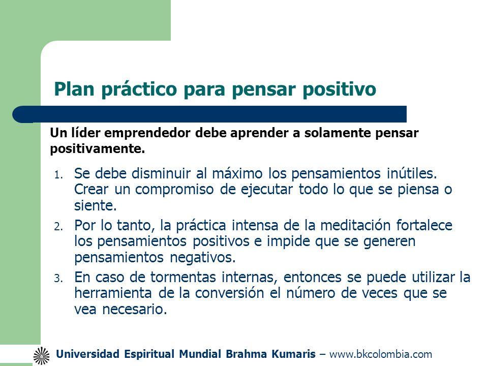 Plan práctico para pensar positivo