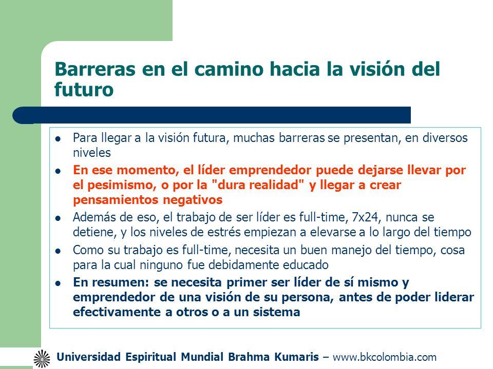 Barreras en el camino hacia la visión del futuro