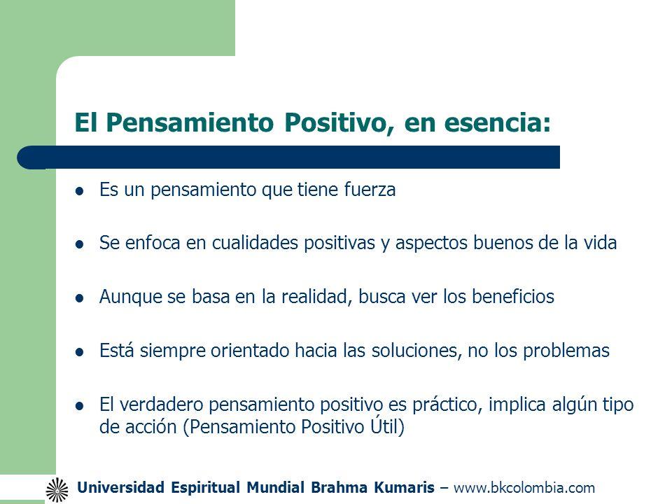 El Pensamiento Positivo, en esencia: