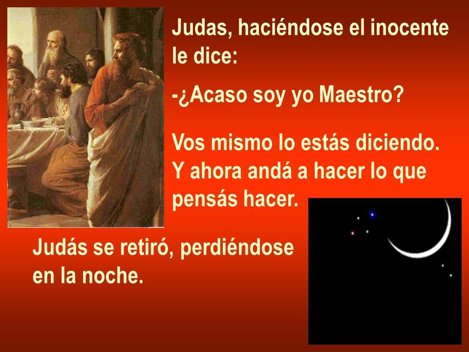 Judas, haciéndose el inocente