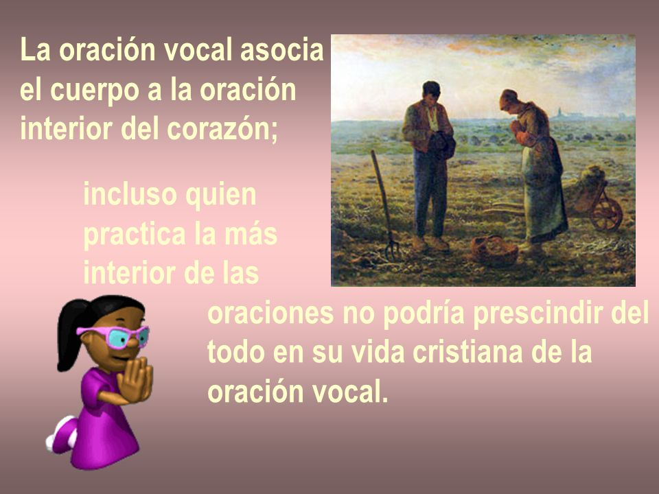La oración vocal asocia