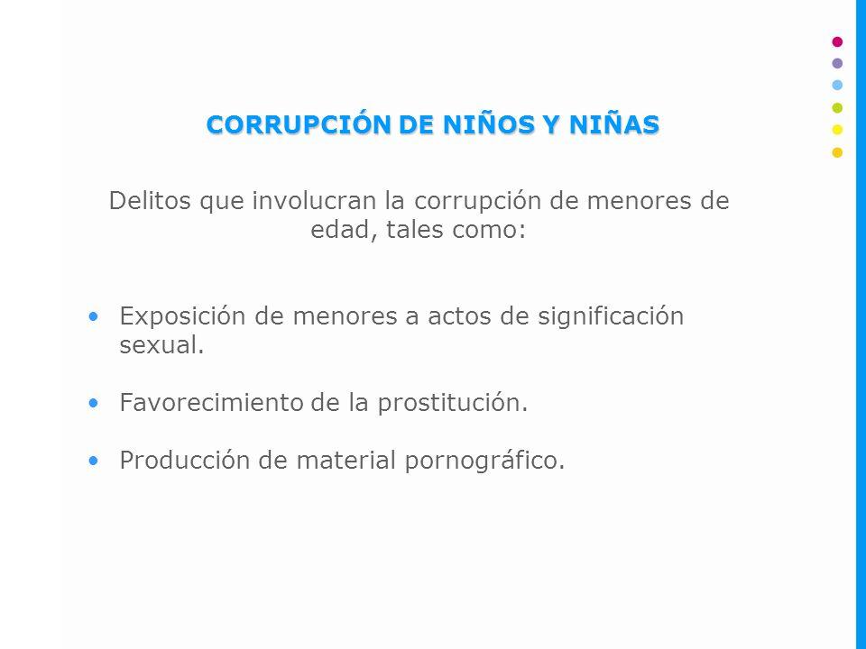 CORRUPCIÓN DE NIÑOS Y NIÑAS