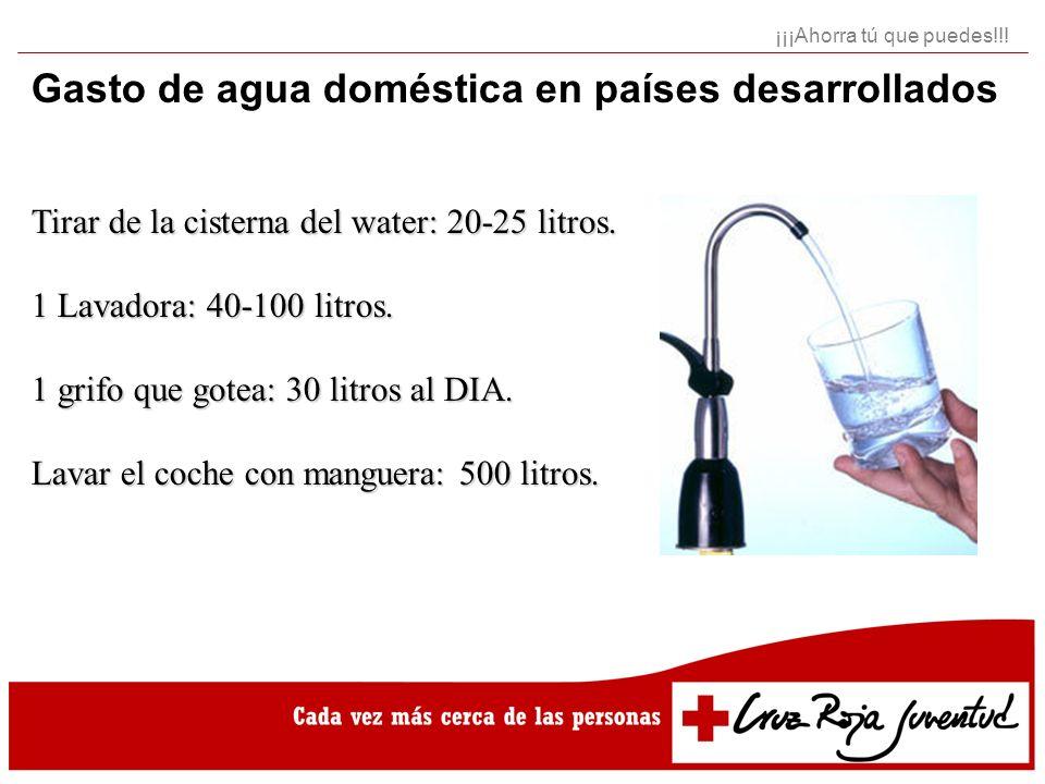 Gasto de agua doméstica en países desarrollados