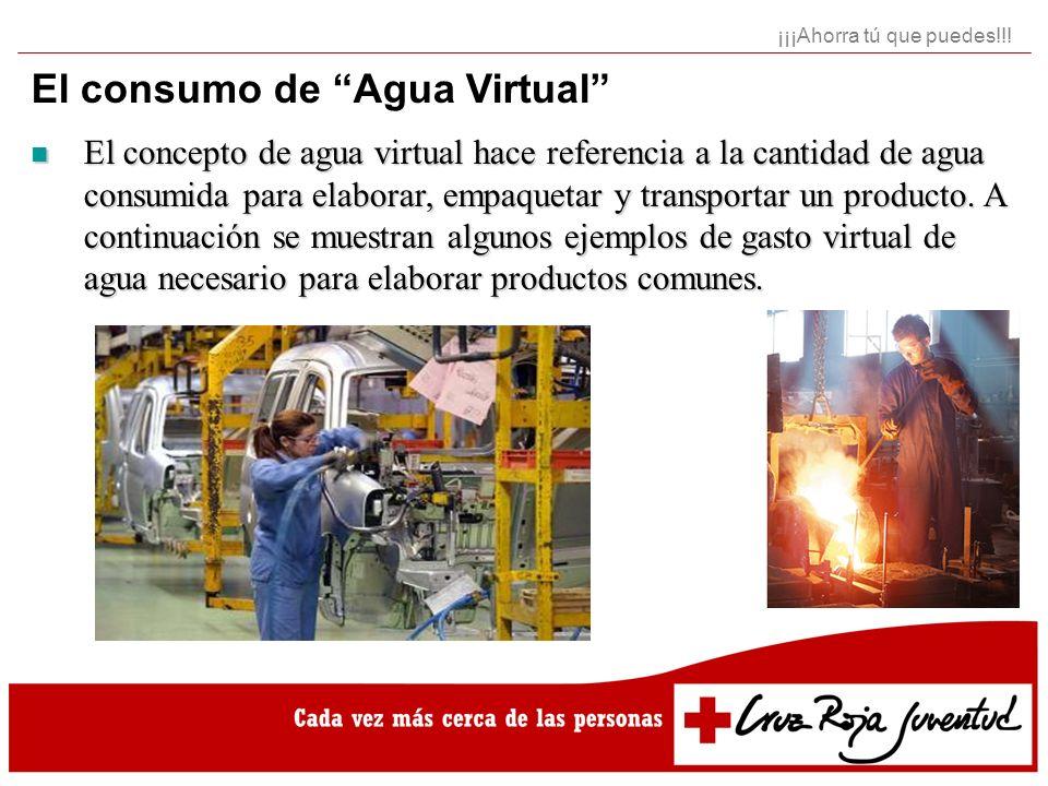 El consumo de Agua Virtual