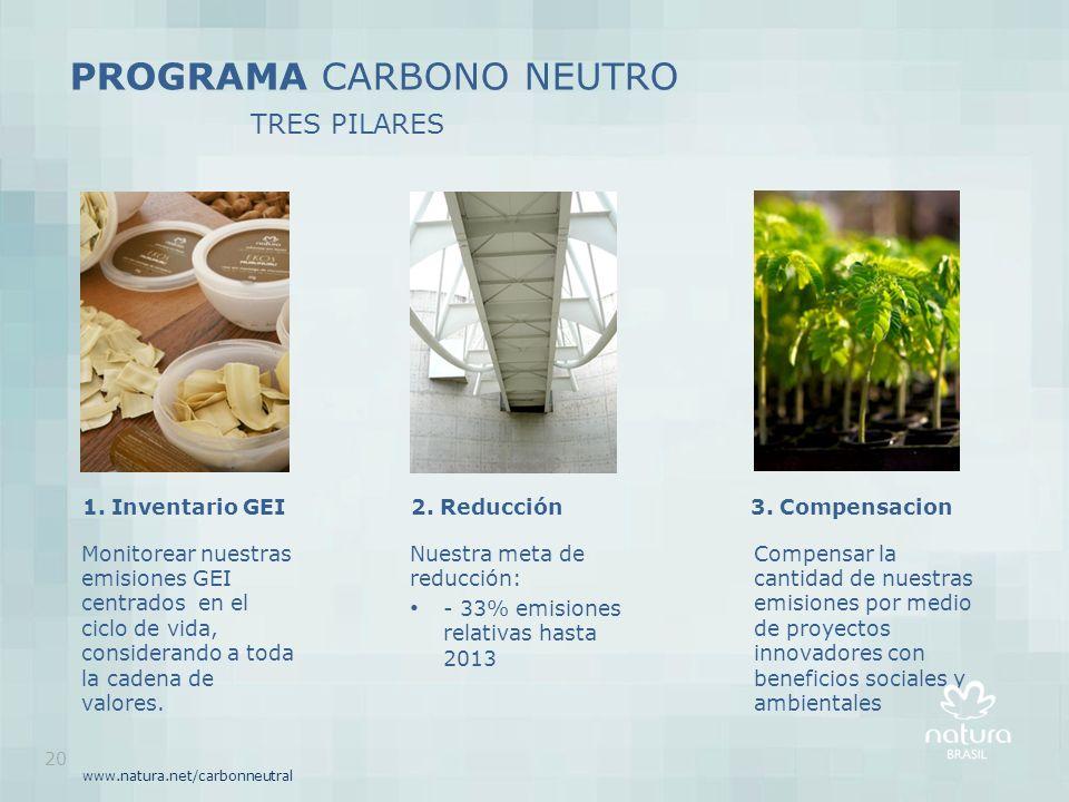 PROGRAMA CARBONO NEUTRO TRES PILARES