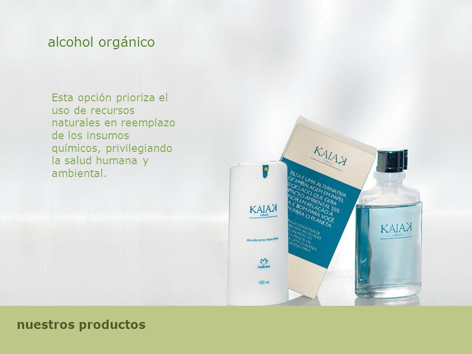 alcohol orgánico nuestros productos