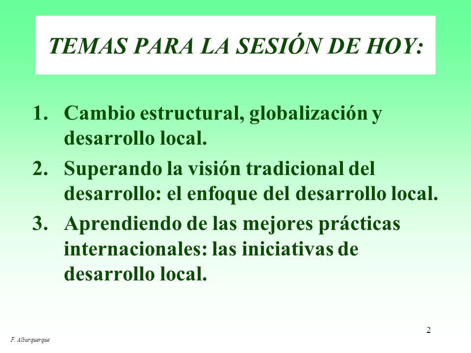 TEMAS PARA LA SESIÓN DE HOY: