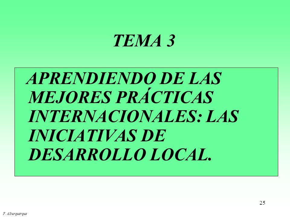 TEMA 3 APRENDIENDO DE LAS MEJORES PRÁCTICAS INTERNACIONALES: LAS INICIATIVAS DE DESARROLLO LOCAL.