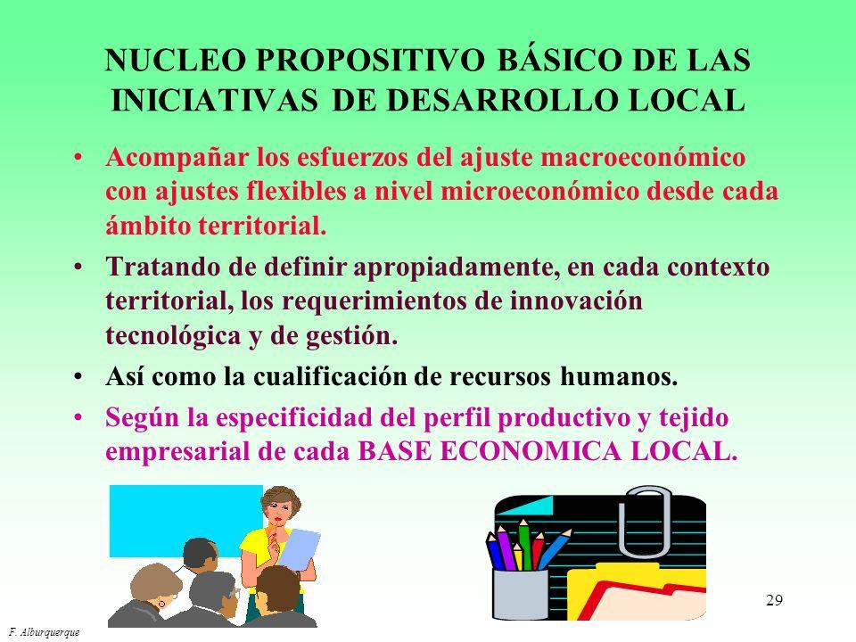 NUCLEO PROPOSITIVO BÁSICO DE LAS INICIATIVAS DE DESARROLLO LOCAL