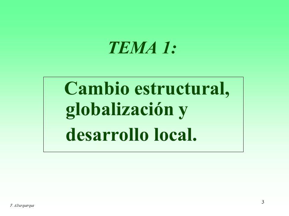desarrollo local. TEMA 1: Cambio estructural, globalización y