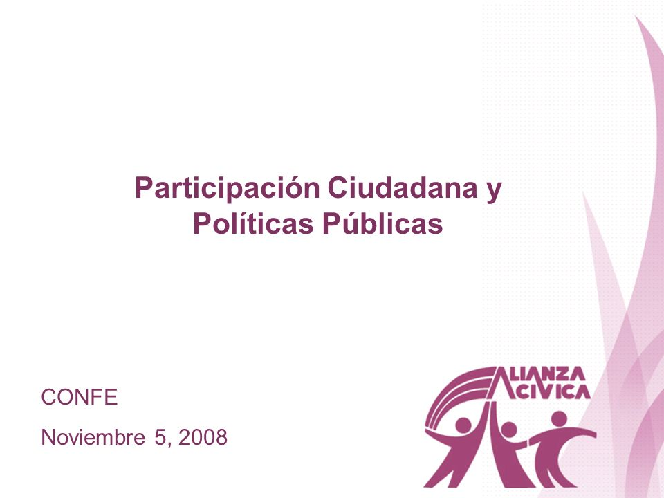 Participación Ciudadana y Políticas Públicas
