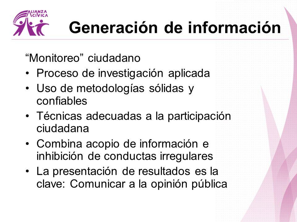 Generación de información
