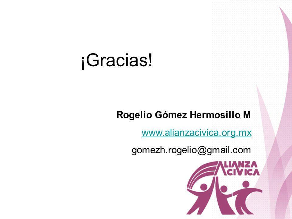 ¡Gracias! Rogelio Gómez Hermosillo M www.alianzacivica.org.mx