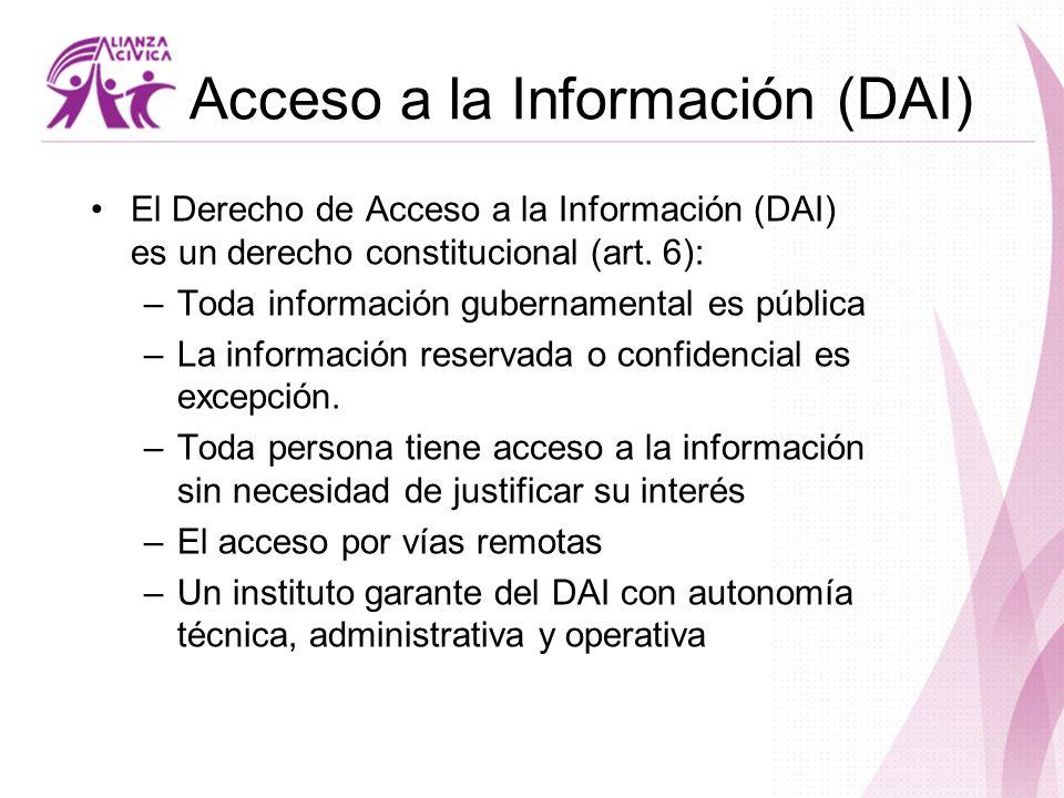 Acceso a la Información (DAI)