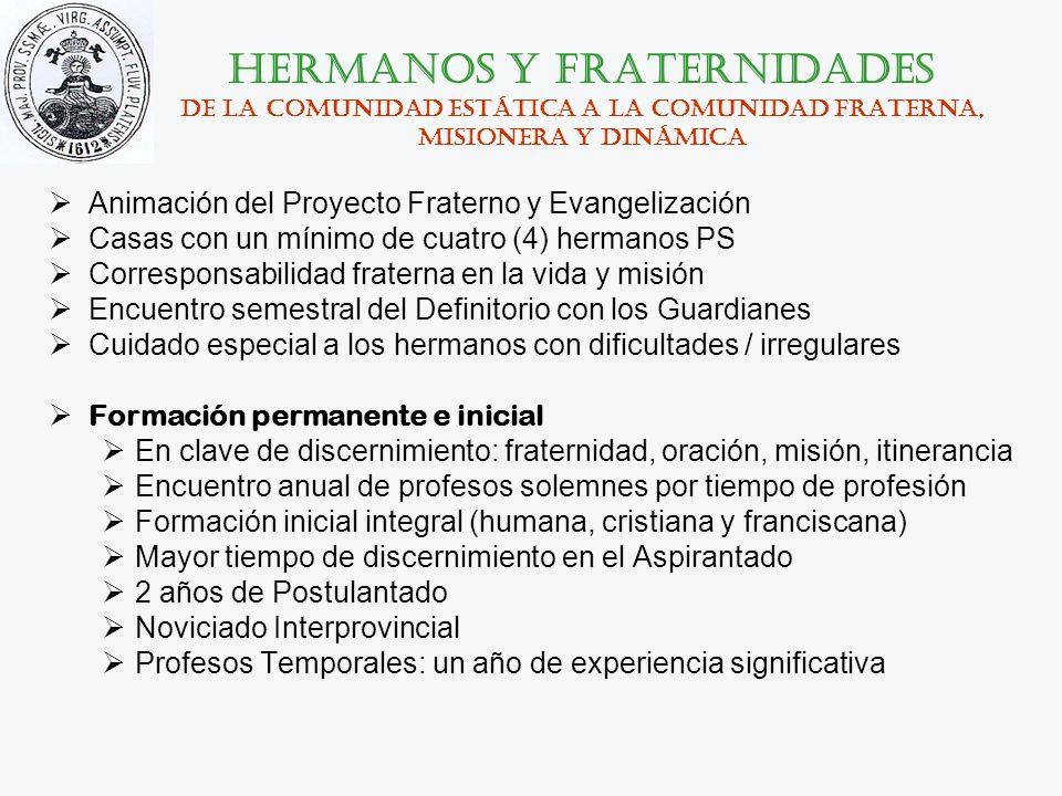 hermanos y fraternidades De la comunidad estática a la comunidad fraterna, misionera y dinámica