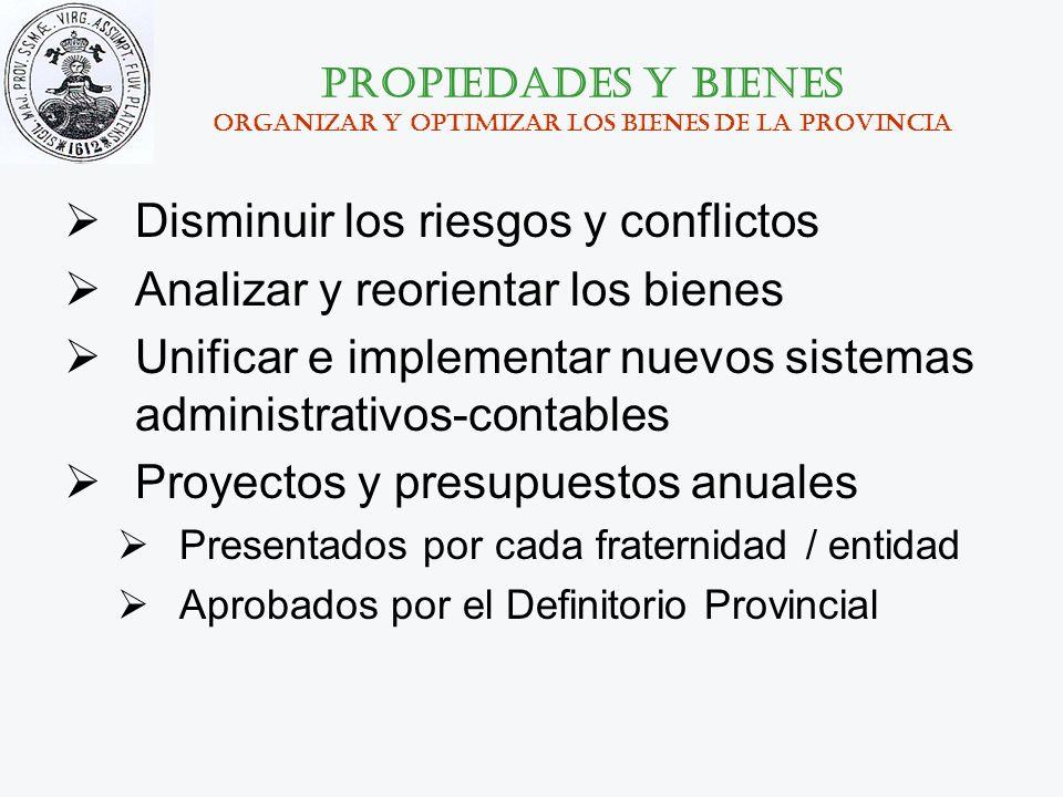 Propiedades y bienes organizar y optimizar los bienes de la provincia
