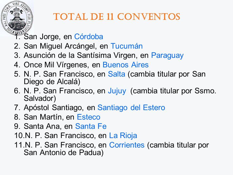 Total de 11 conventos San Jorge, en Córdoba