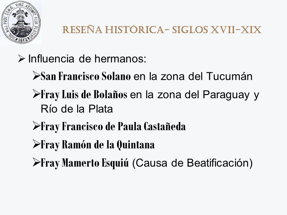 Reseña histórica- Siglos XVII-XIX