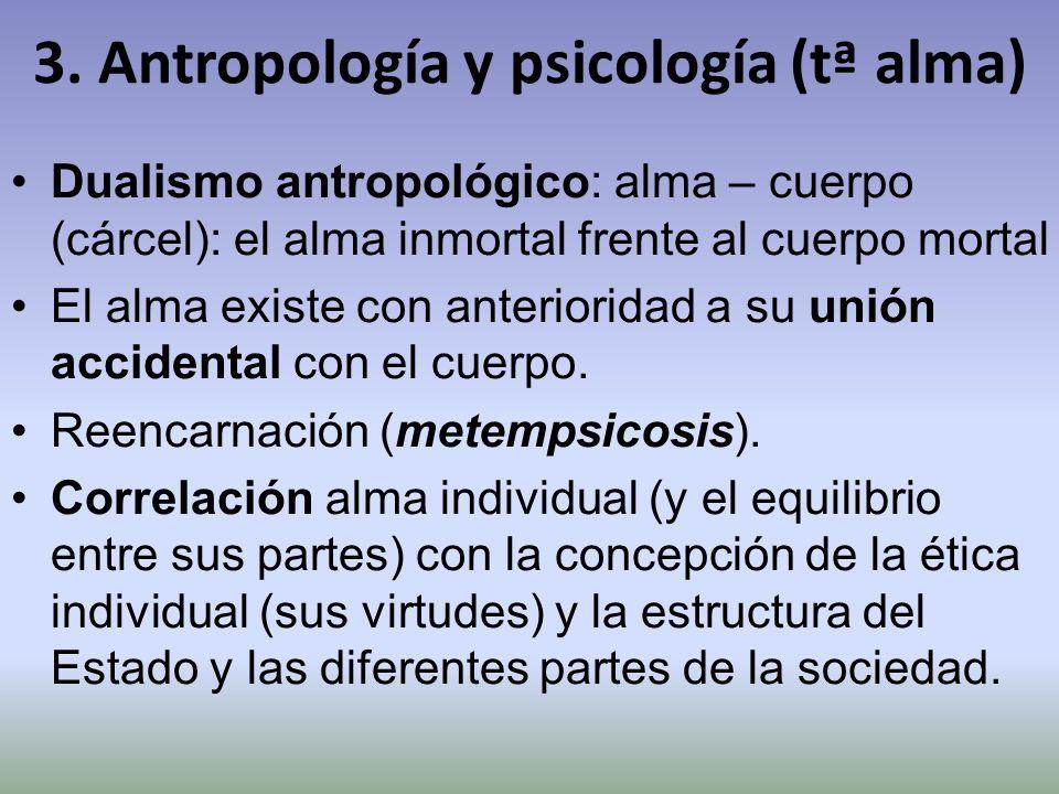 3. Antropología y psicología (tª alma)