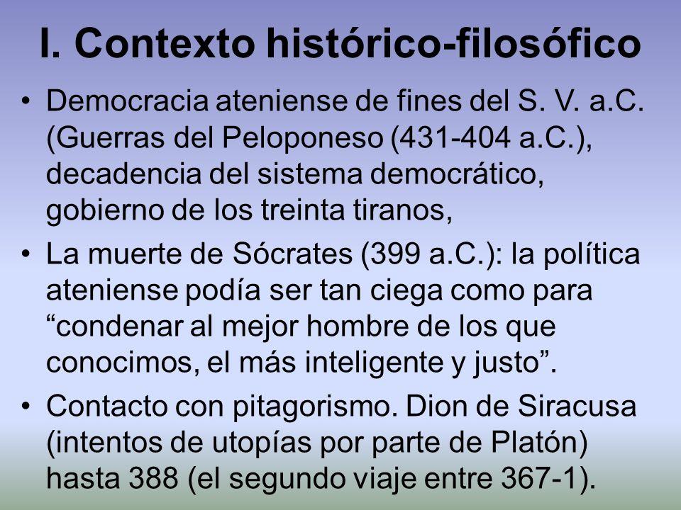 I. Contexto histórico-filosófico