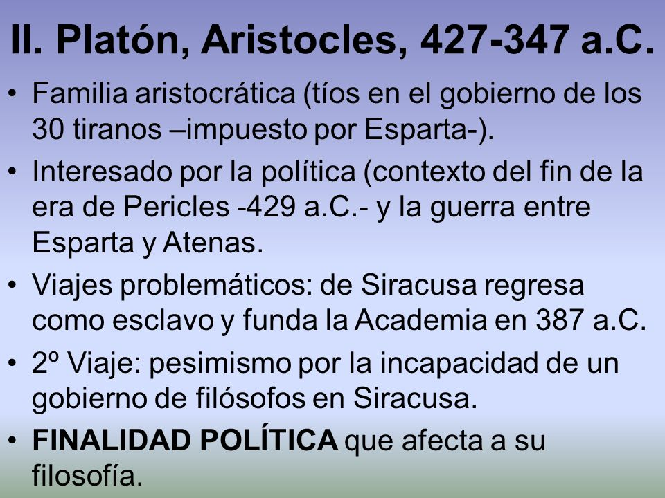 II. Platón, Aristocles, 427-347 a.C.