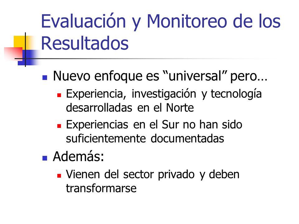 Evaluación y Monitoreo de los Resultados