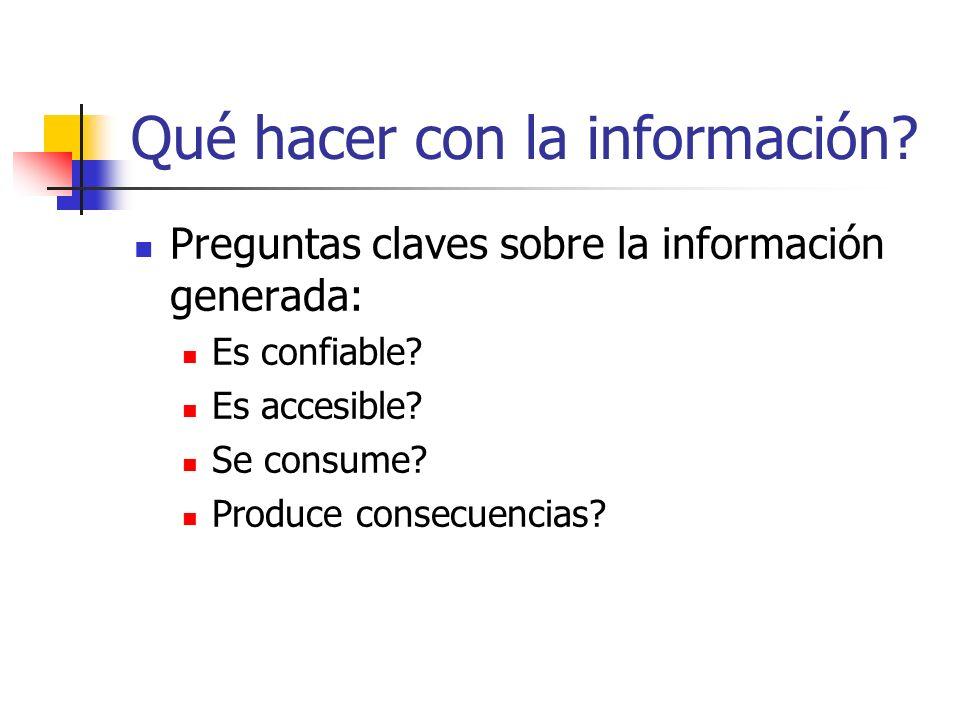 Qué hacer con la información
