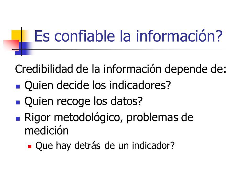 Es confiable la información