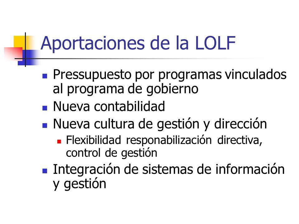 Aportaciones de la LOLF