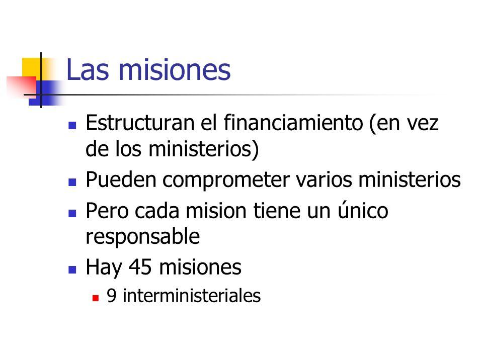 Las misiones Estructuran el financiamiento (en vez de los ministerios)