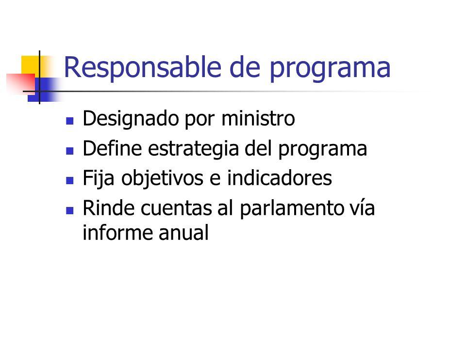 Responsable de programa