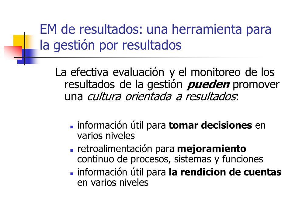 EM de resultados: una herramienta para la gestión por resultados