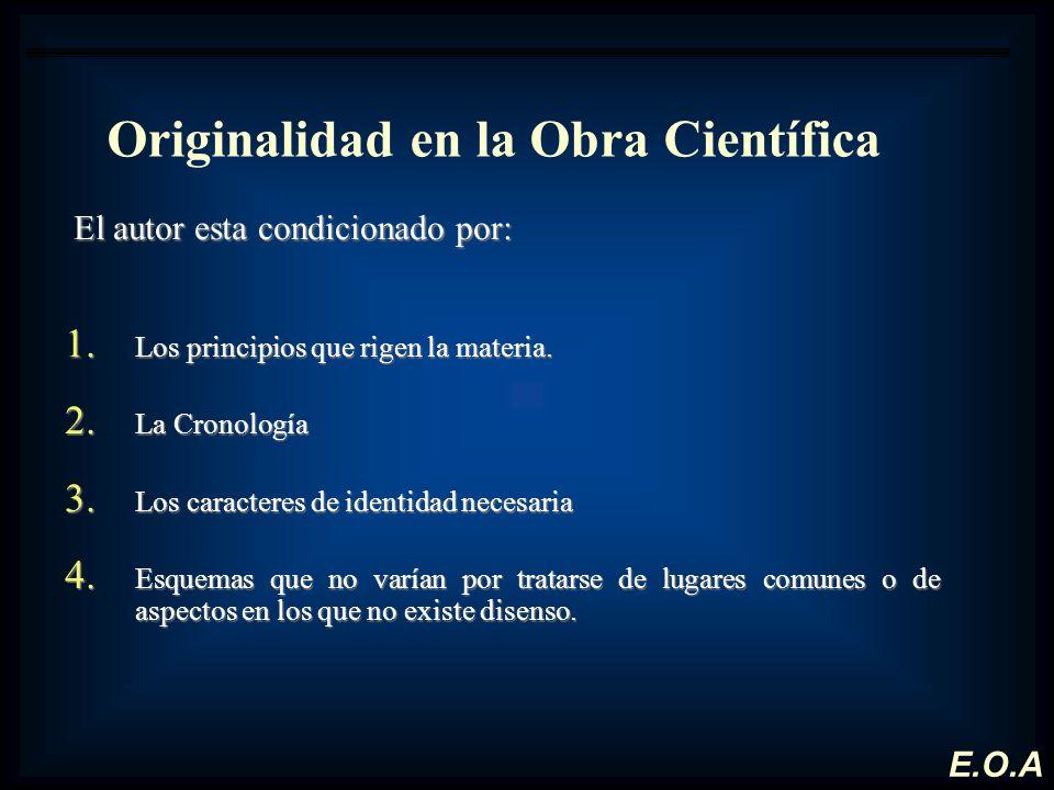 Originalidad en la Obra Científica