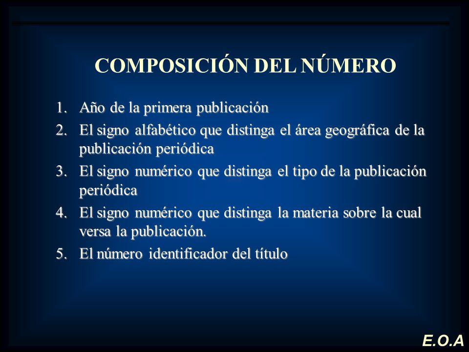 COMPOSICIÓN DEL NÚMERO