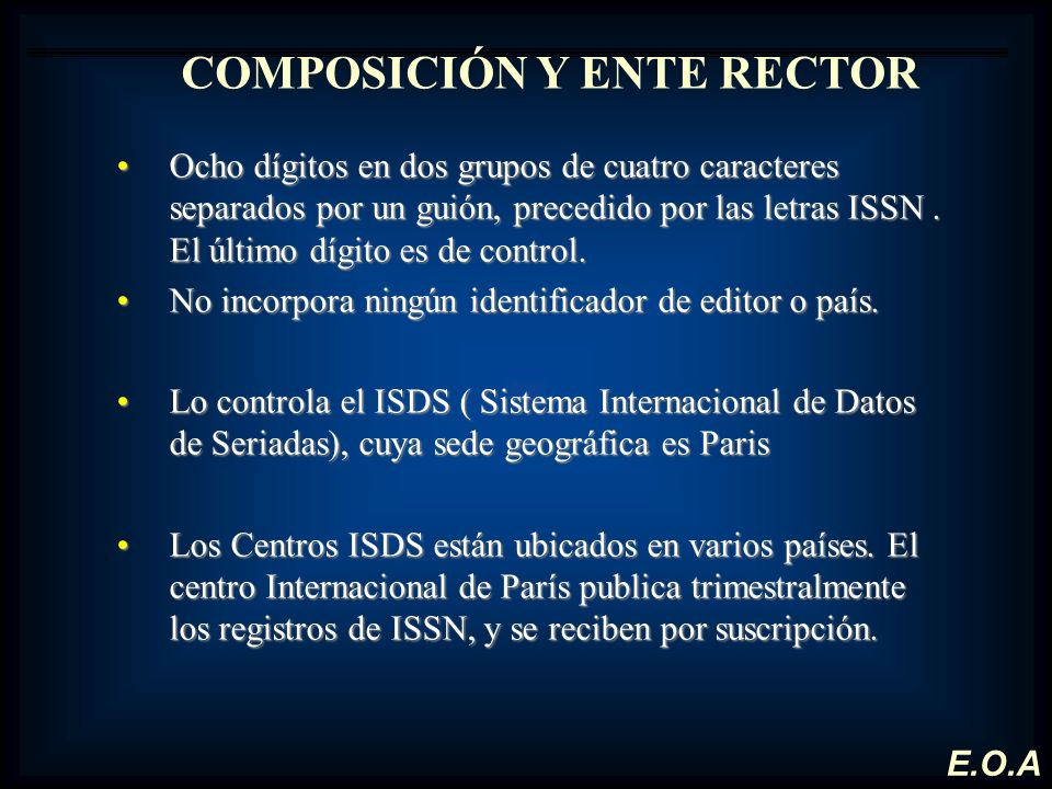 COMPOSICIÓN Y ENTE RECTOR