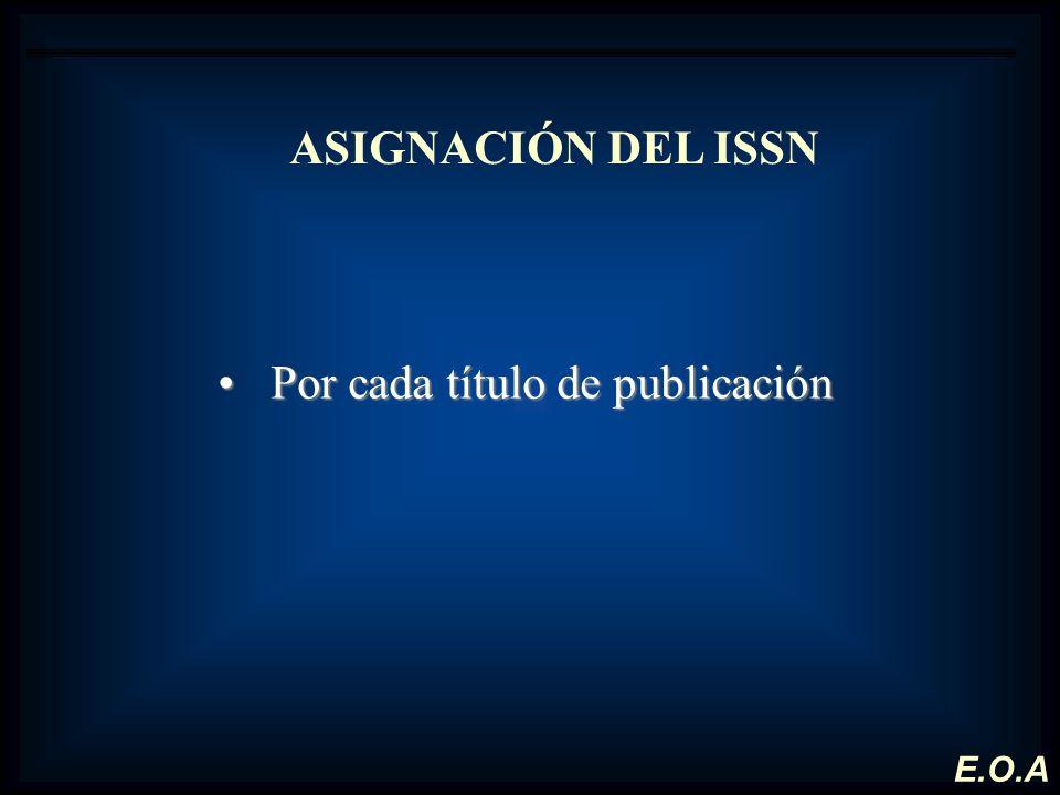 Por cada título de publicación