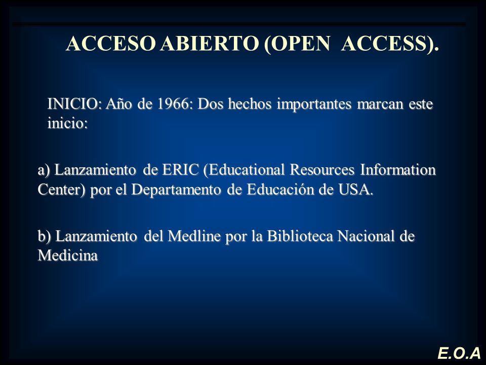 ACCESO ABIERTO (OPEN ACCESS).